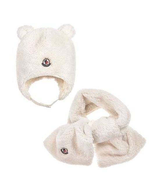 MONCLER MONCLER BABY HAT & SCARF SET