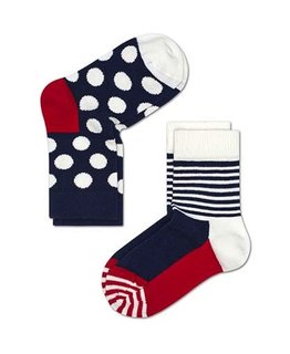 HS SOCKS BABY DOTTED-STRIPE