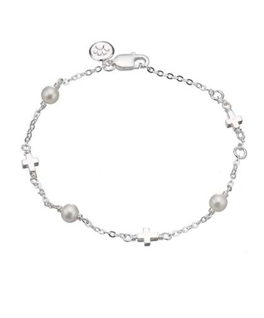 MOLLY BROWN LONDON MOLLY BROWN LONDON PEARL STATION CROSS BRACELET