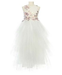 LITTLE MISS AOKI GIRLS SLEEVELESS TULLE DRESS