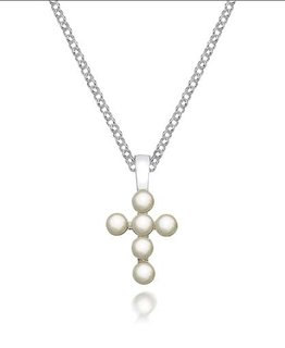 MOLLY BROWN LONDON PEARL CROSS NECKLACE