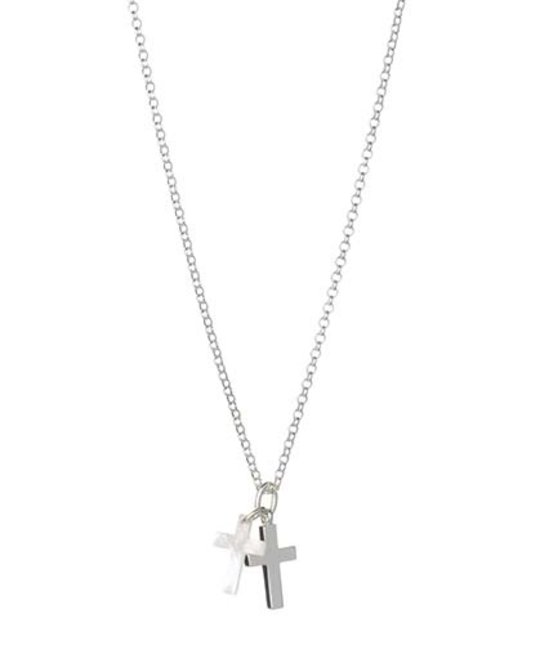 MOLLY BROWN LONDON MOLLY BROWN LONDON MOTHER OF PEARL CROSS NECKLACE