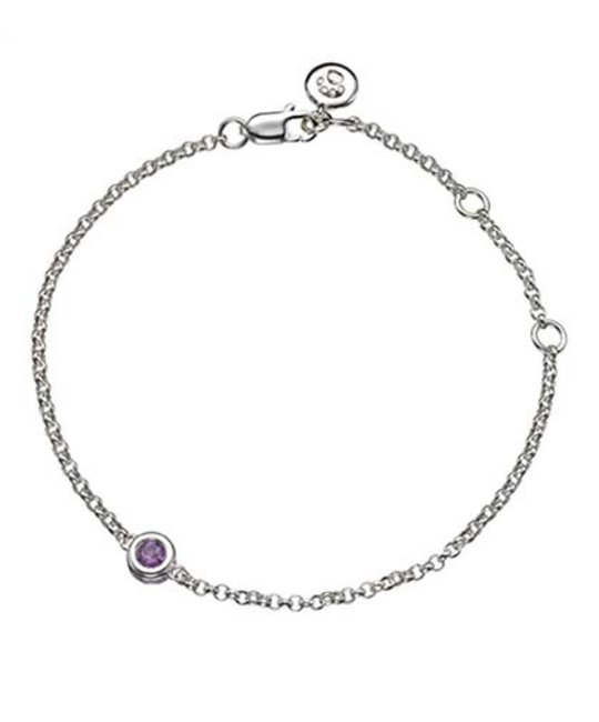 MOLLY BROWN LONDON MOLLY BROWN LONDON FEBRUARY BIRTHSTONE BRACELET-AMETHYST