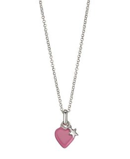 MOLLY BROWN LONDON ROSIE PINK HEART & STAR NECKLACE