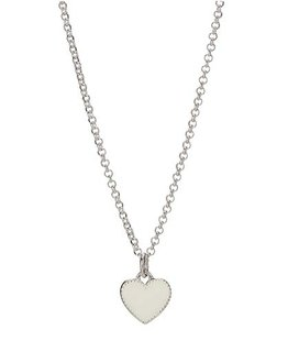 MOLLY BROWN LONDON WHITE ENAMEL HEART NECKLACE