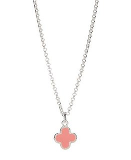 MOLLY BROWN LONDON PINK ENAMEL CLOVER NECKLACE