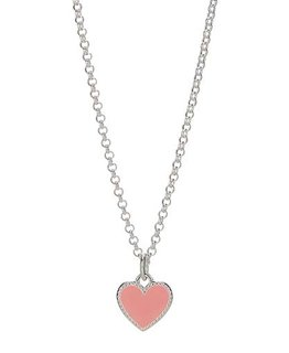 MOLLY BROWN LONDON PINK ENAMEL HEART NECKLACE