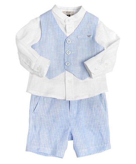 ARMANI JUNIOR ARMANI JUNIOR BABY BOYS TOP & SHORT SET