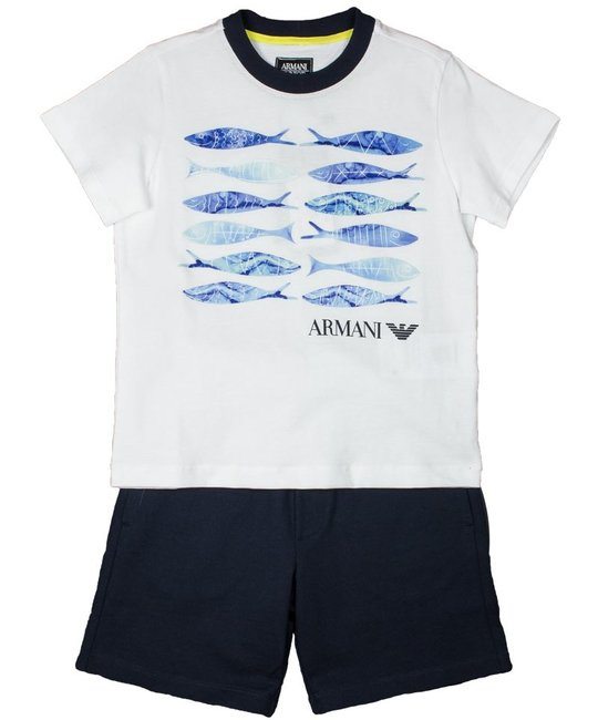 ARMANI JUNIOR ARMANI JUNIOR BOYS TOP & SHORT SET