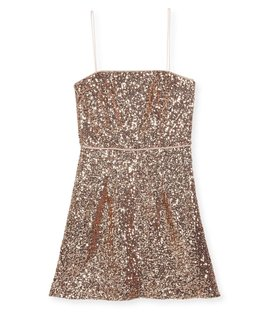 MILLY MINIS GIRLS SEQUINS DRESS