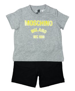 MOSCHINO BABY BOYS TEE & SHORT SET