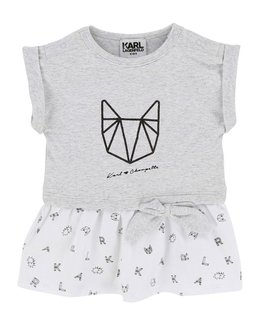 KARL LAGERFELD KIDS BABY GIRLS DRESS