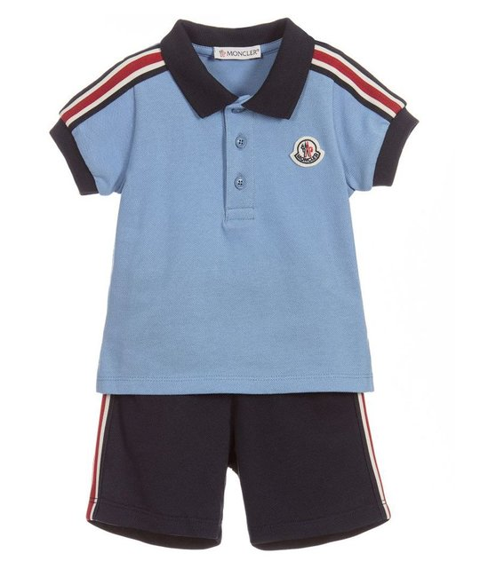 MONCLER MONCLER BABY BOYS POLO & SHORT SET
