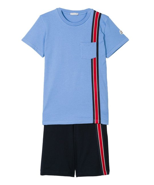 MONCLER MONCLER BOYS TEE & SHORT SET