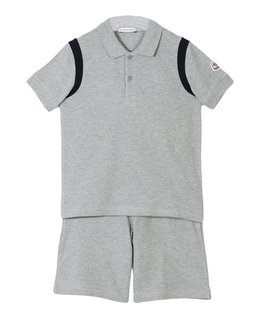 MONCLER BOYS POLO & SHORT SET