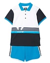 ARMANI JUNIOR ARMANI JUNIOR BABY BOYS POLO & SHORT SET