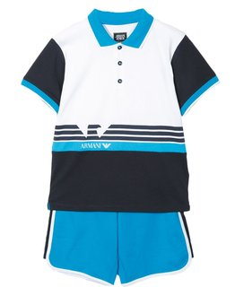 ARMANI JUNIOR BABY BOYS POLO & SHORT SET
