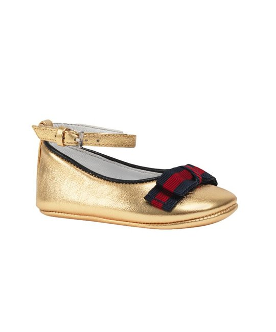 GUCCI GUCCI BABY GIRLS CINDY BALLET FLATS