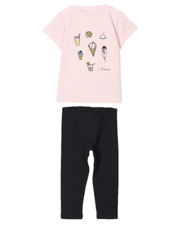 ARMANI JUNIOR BABY GIRLS TOP & LEGGING SET