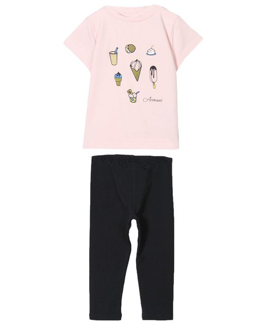 ARMANI JUNIOR ARMANI JUNIOR BABY GIRLS TOP & LEGGING SET