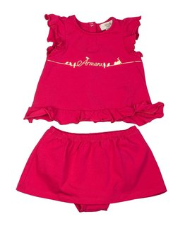 ARMANI JUNIOR BABY GIRLS TOP & SHORT SET