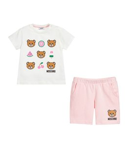 MOSCHINO BABY GIRLS TEE & SHORT SET