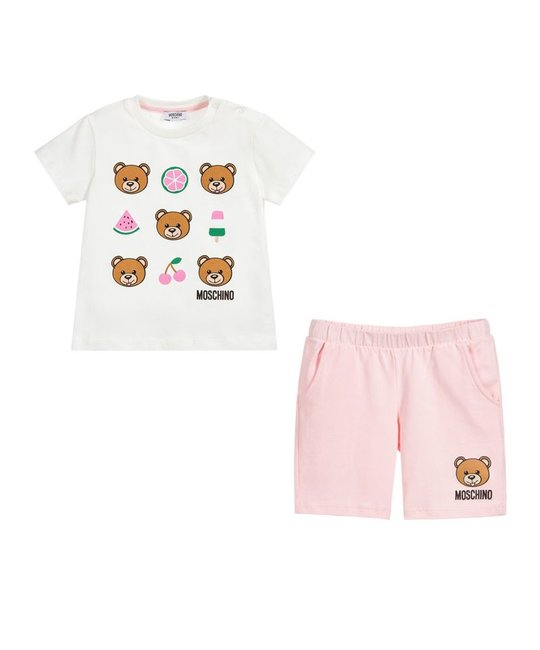 MOSCHINO MOSCHINO BABY GIRLS TEE & SHORT SET