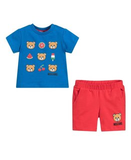 MOSCHINO BABY BOYS TEE & SHORT SET