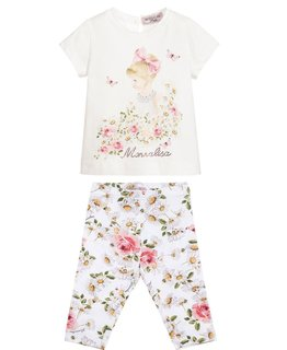 MONNALISA BABY GIRLS TEE & LEGGING SET