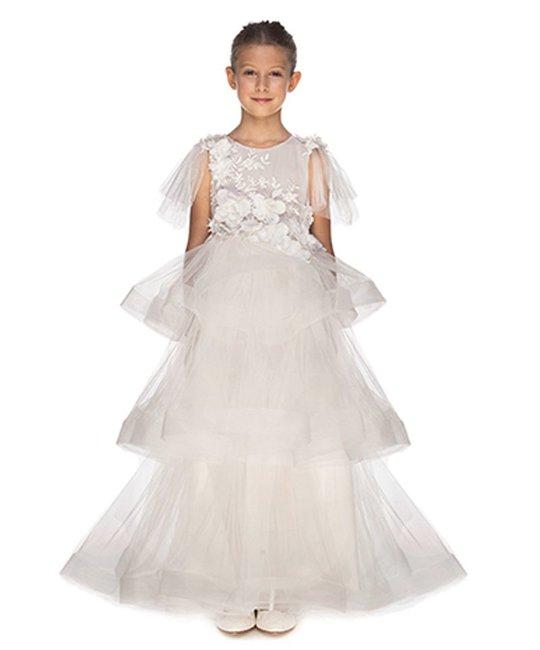 LITTLE MISS AOKI LITTLE MISS AOKI GIRLS TRIPLE LAYERED DRESS