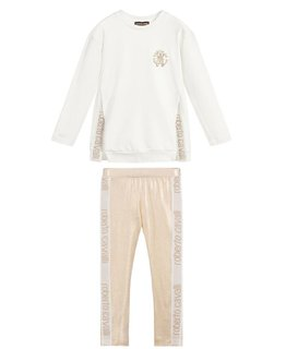 ROBERTO CAVALLI GIRLS TOP & LEGGING SET
