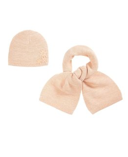 CHLOÉ GIRLS HAT & SCARF SET