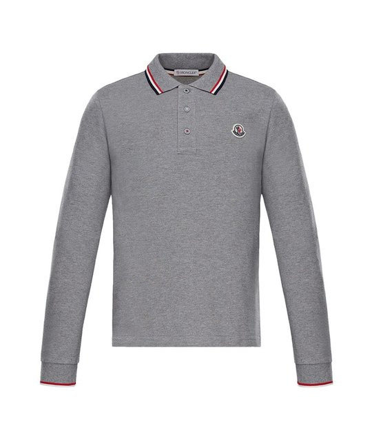 MONCLER MONCLER BOYS LONG SLEEVE POLO