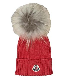 MONCLER GIRLS POM-POM HAT