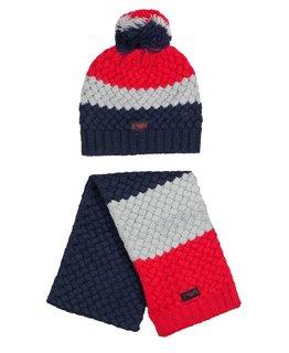 EMPORIO ARMANI BABY BOYS HAT & SCARF SET