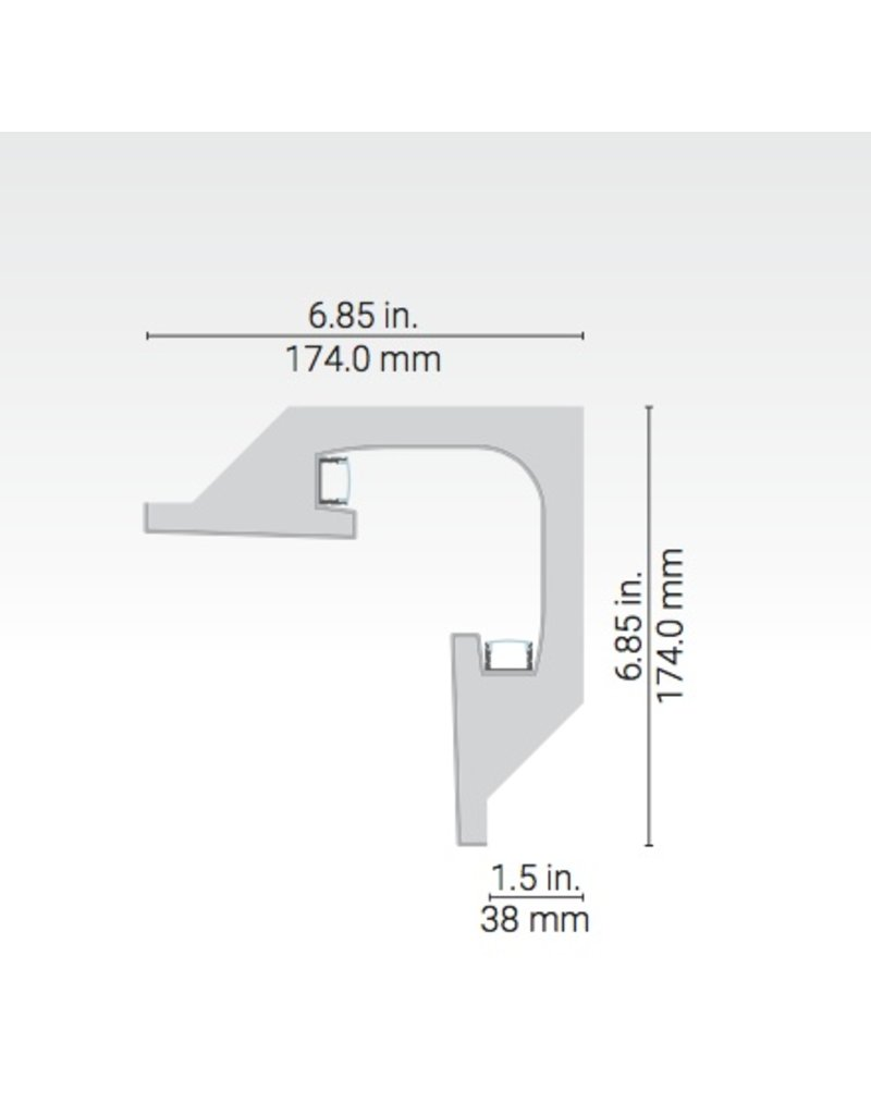 Dark Tools Geminus Linear Plaster-in Corner Moulding
