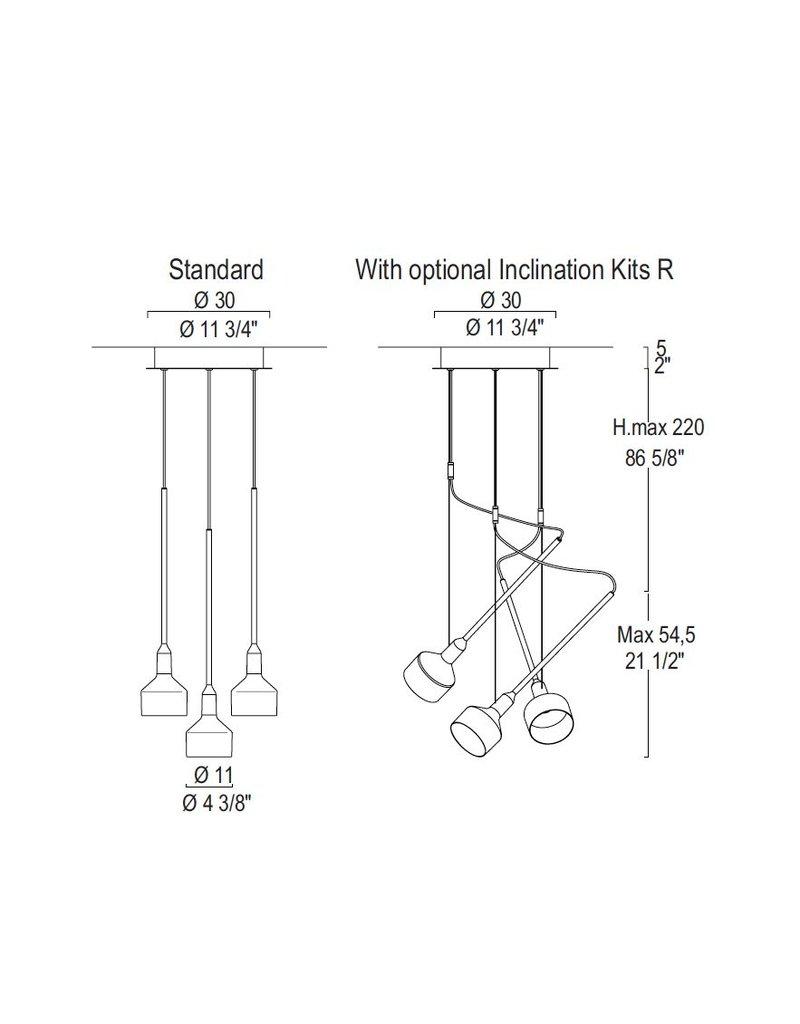 Leucos Beamer 11 S R-3 Multi-Pendant Suspension