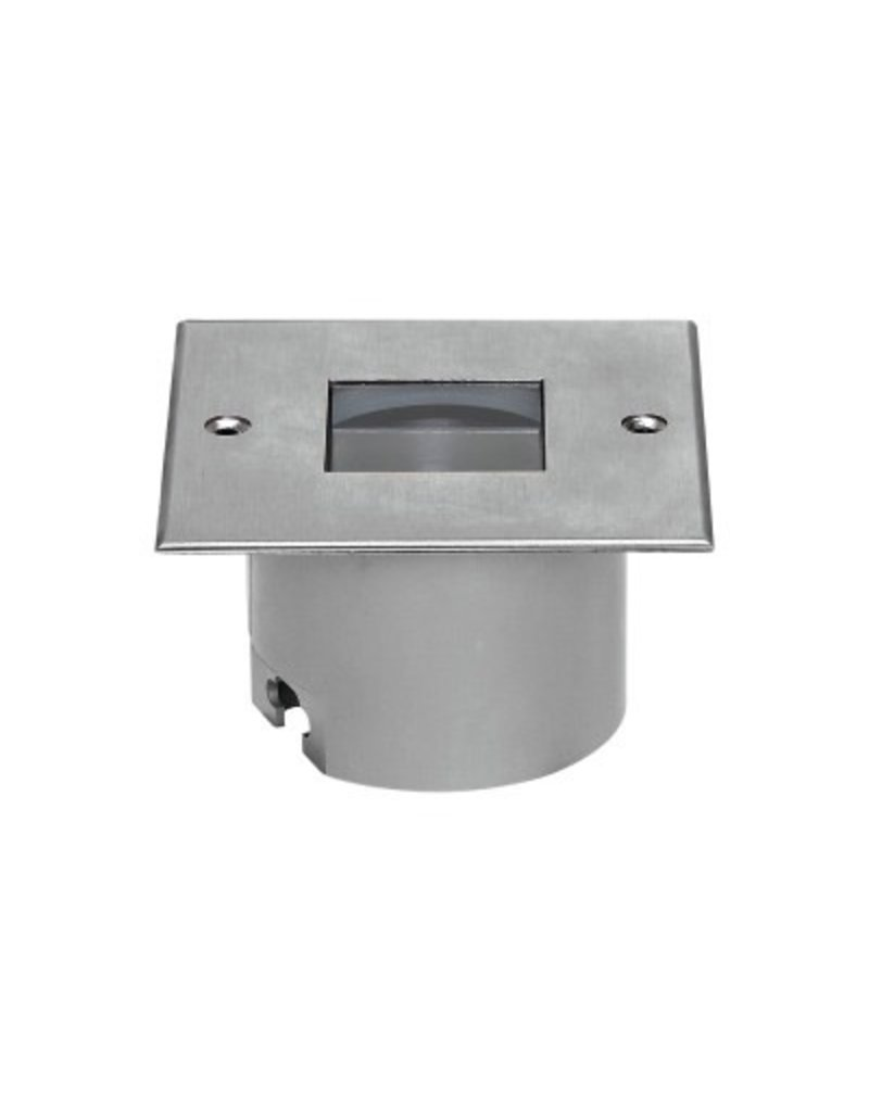 Linea Orma Square Stainless Steel Outdoor Recessed Uplight