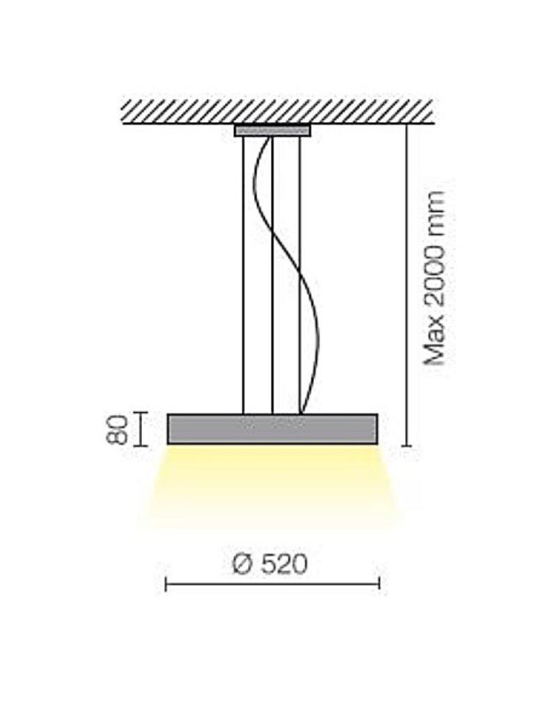 Biffi Ring 520 LED Pendant Single Emission