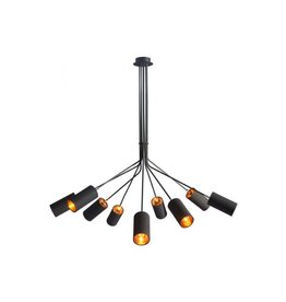 Ambition Ceiling Lamp with 9 heads, 9 x 15W max E12 candelabra base, fabric and metal (lamps not included)