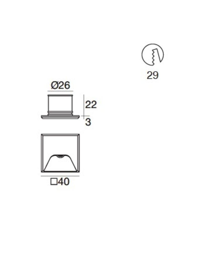 iLED Envelope 1 recessed miniature asymetric steplight
