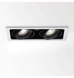 Delta Dual Square recessed Snap-in Adjustable Downlight