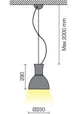 Biffi Claro Mini LED Industrial Pendant