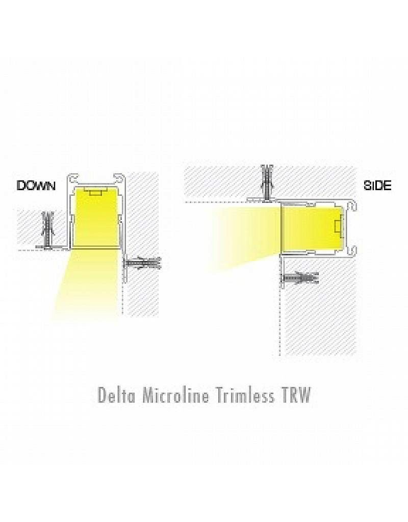 Delta Light Microline TRW Recessed Trimless Corner Profile