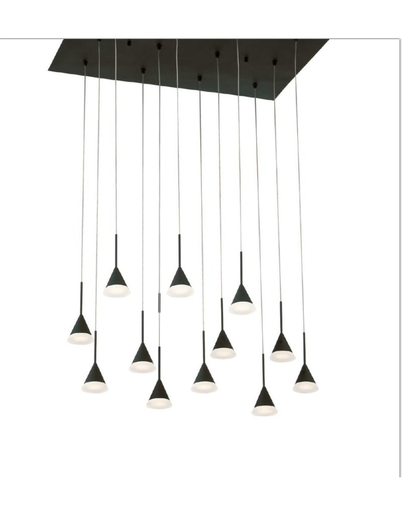 Eurofase Albion Large Black LED Chandelier