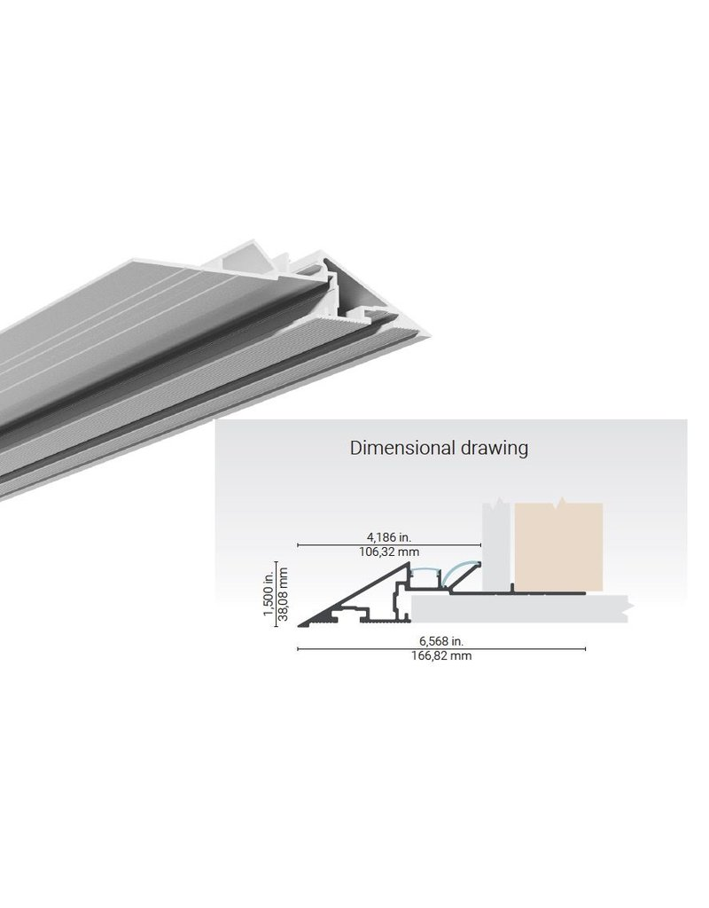 Dark Tools Knife Edge Linear Aluminium Plaster-in Extrusion