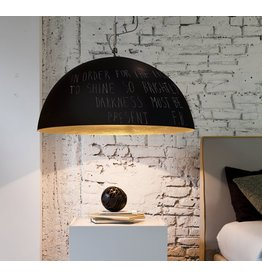 In-es.artdesign Mezza Luna lavagna Metal Blackboard Dome Pendant