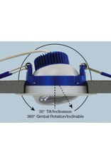 Liteline Luna LED Round Recessed Adjustable Downlight