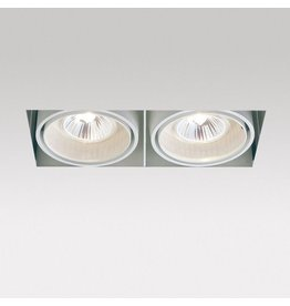 Delta Dual Square recessed Snap-in Adjustable Downlight