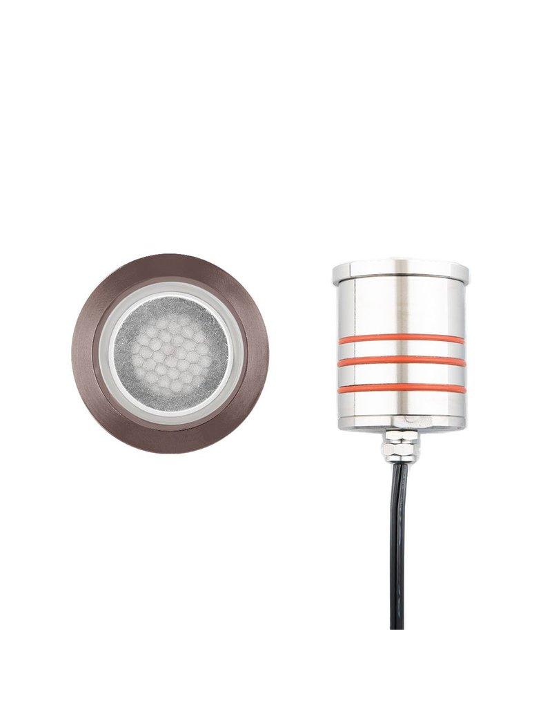 WAC Lighting Round Infloor Recessed Uplight